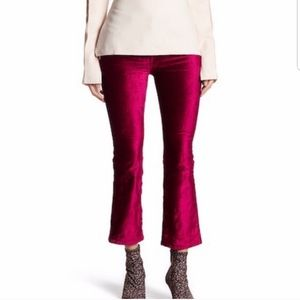 Free People Velvet Cropped Flare Pants